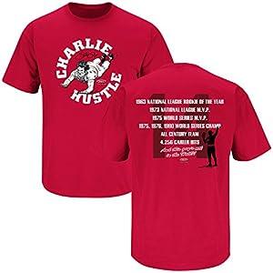 Cincinnati Reds Fans. Charlie Hustle. Red T-Shirt (S-5X)
