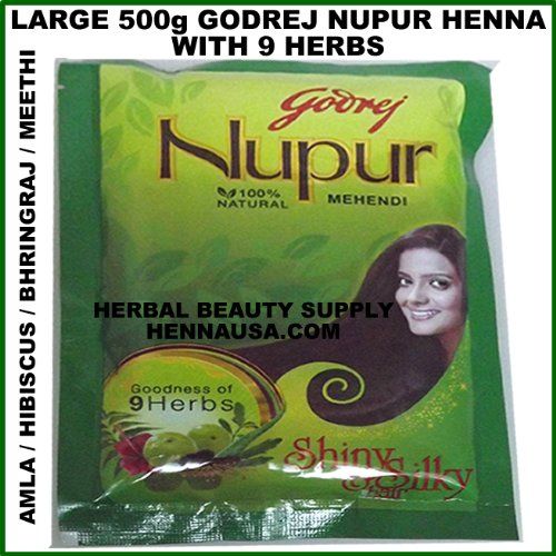 Godrej Nupur Natural Mehndi  Goodness of 9 Herbs