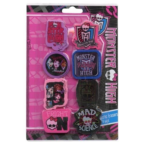 Monster High Shaped Erasers - 1