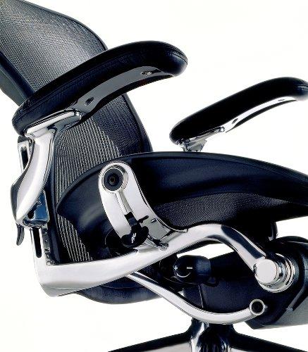 Aeron Chair by Herman Miller - Highly Adjustable - Graphite Frame - Lumbar Pad