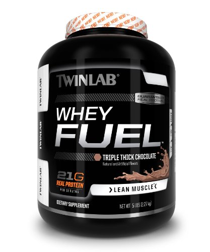 Twinlab Whey Fuel Lean Muscle 21g. Real Protein (Triple Thick Chocolate, 5 Lb.)