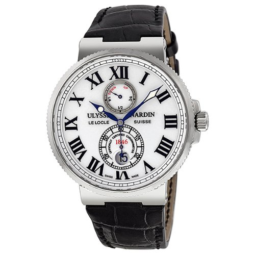 Ulysse Nardin Maxi Marine Automatic White Dial Stainless Steel Mens Watch 263-67-40