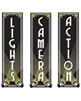 Beistle 54328 3-Pack Lights, Camera, Action Cutouts, 20-Inch