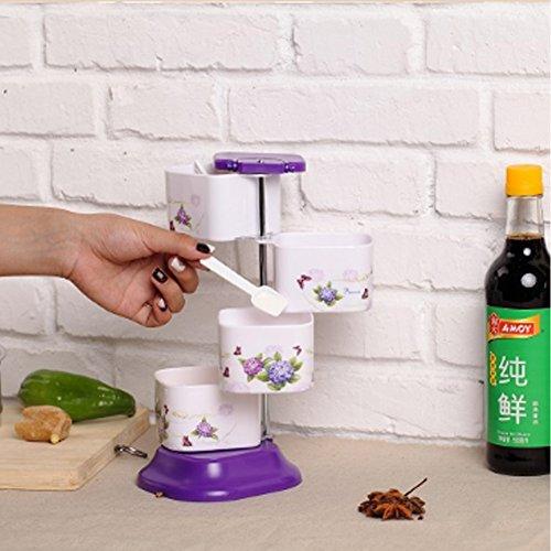 Buy Spice Jars/ Four Tier Organizer/ Spice Rack / Seasoning Storage from Amazon