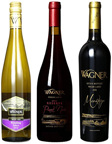"Wagner Vineyards ""Finger Lakes 2 Reds & A White"" Mixed Pack 3 X 750 Ml"
