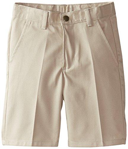 Izod Little Boys' Flat Front Short Slim, Khaki, 06/Small