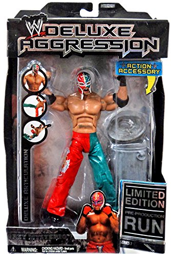 WWE Deluxe Aggression Rey Mysterio Series 1 Action Figure WWF WCW ECW by Jakks Pacific