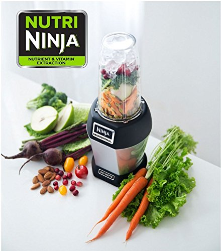 Nutri NINJA BL455 Professional 1000 watts Personal Blender Bonus Set with 3-Sip & Seal Single Serves(12, 18, and 24-Ounce Cups) & 75-Recipe Cookbook (Ninja Blender Single Cups compare prices)
