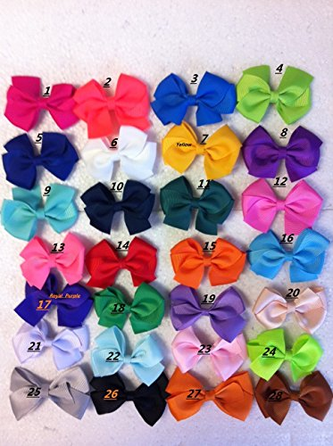"Pick 15 Pcs 3"" Girls Baby Toddler Kids Hair Bow Clips Boutique Hair Bow 23 Colors"