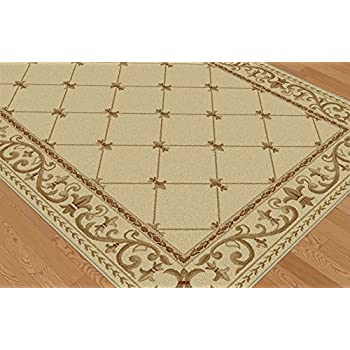 Universal Rugs Orleans Traditional Border Ivory Octagon Area Rug, 6 Octagon