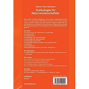 Toxikologie für Naturwissenschaftler: Einführung in die Theoretische und Spezielle Toxik