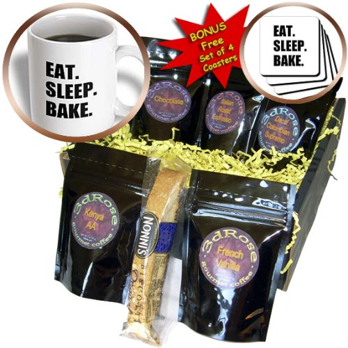 Cgb_180382_1 Inspirationzstore Eat Sleep Series - Eat Sleep Bake - Passionate About Baking - Hobby Or Pro Baker Text - Coffee Gift Baskets - Coffee Gift Basket