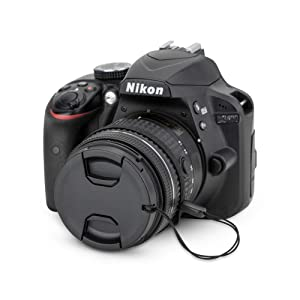 55mm Front Lens Cap Cover with Deluxe Cap Keeper for Nikon D3400 D3500 D5600 with Kit Lens AF-P 18-55mm for Sony A7 A7 II A7 III with Kit Lens FE 28-70mm and More Lenes with 55mm Filter Thread (Tamaño: 55mm)
