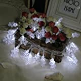 InnooTech 4M 40 LED Christmas String Lights Battery Operated for Indoor Outdoor Xmas Decoration(White)