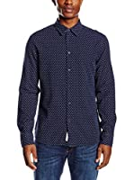 Pepe Jeans London Camisa Hombre Alan Essential Fit (Azul Oscuro)