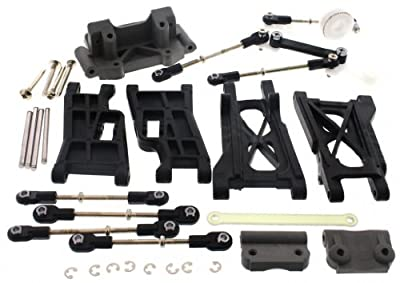 Traxxas Nitro Rustler 2.5 * FRONT & REAR ARMS TIE RODS TURNBUCKLES SERVO SAVER *