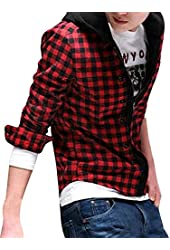 Allegra K Men Long Sleeve Letter Print Casual Varsity Jacket