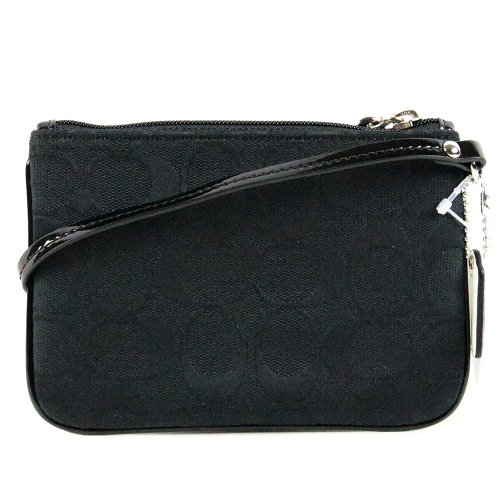 Coach   Coach Parker Signature Wristlet Wallet Case for iPhone Bag 49471 Black