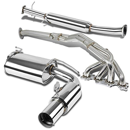 For Honda Accord CM 4Cyl Stainless Steel 4 Muffler Tip Catback Exhaust System