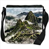 Mists in Mountains Machu Picchu Peru Small Denim Shoulder Bag / Handbag