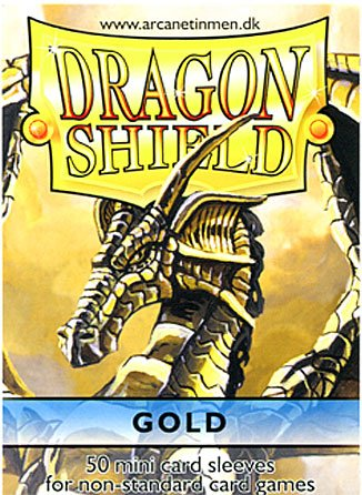 Dragon Shield Card Supplies YUGIOH Card Sleeves Gold 50 Count