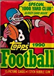 1990 Topps Football Cards with Bubble Gum