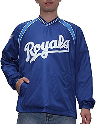 KANSAS CITY ROYALS MLB Mens Athletic Wind Breaker Jacket with Lining