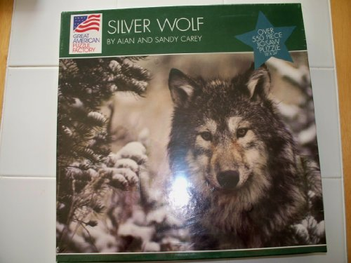 Silver Wolf Over 550 Piece Jigsaw Puzzle