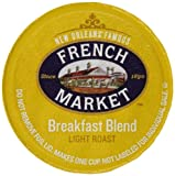 French Market Coffee Roast Single Serve Cups, Breakfast Blend, 12 Count (Pack of 6)