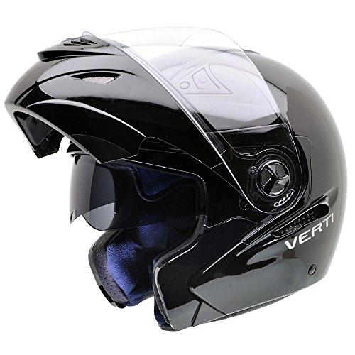 NZI 150207G046 Verti B Casco Moto, Nero, Taglia XS