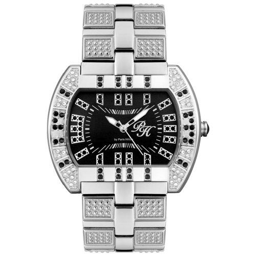 Paris Hilton Women's PH592J01MD Chocolate Collection Black Crystal Watch