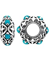 Storywheels Charm Silver Turquoise Wheel Containing 6 Turquoises (1 Piece)