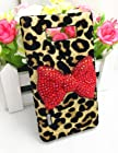 Bling Shiny 3D Pink Bow Leopard Special Party Case Cover For LG Optimus Showtime L86C L86G StraightTalk Net 10 Splendor/Venice/US730 (Red Bow)