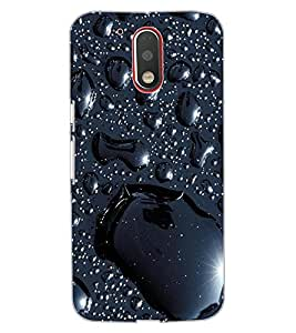 ColourCraft Lovely Water Drops Pattern Design Back Case Cover for MOTOROLA MOTO G4 PLUS