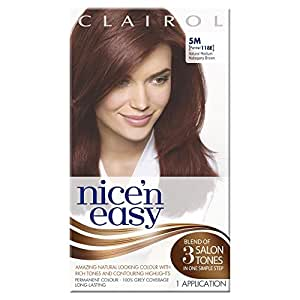 Nice'n Easy Permanent colour - Natural Medium Mahogany Brown (No. 5M, Former Shade No. 118E)