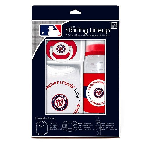 Washington Nationals Baby Gift Set: Starting Lineup 3-Piece Baby Feeding Set - 1