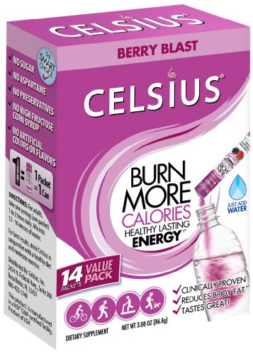 Celsius Berry Blast On-the-Go Box with 14-Count Packets, 3.08 Ounces