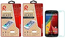 Raydenhy Pack of 2 (2 PCS) 2.5D Curved Edges 0.33MM Thickness Tempered Glass For Motorola Moto G2 (2nd Generation)