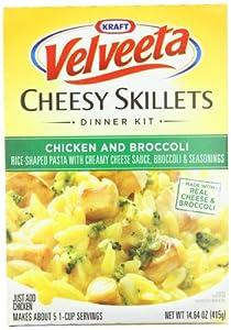 Kraft Velveeta Chicken and Broccoli Skillets Dinner Kit, 14.64-Ounce (Pack of 6)