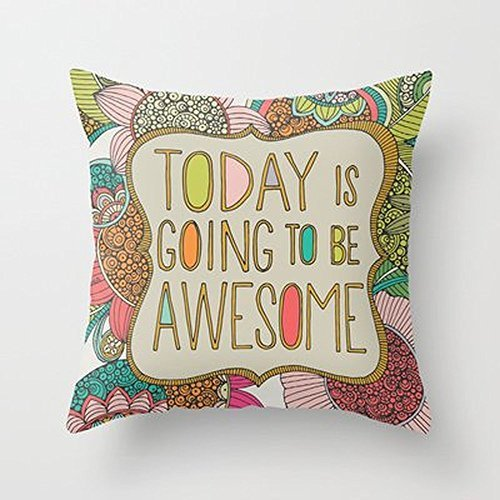 My Honey Pillow Today Is Going To Be Awesome Throw Pillow By Valentina Harperfor Your Home (Valentina Espresso compare prices)