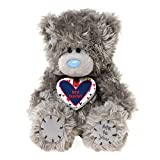 Me to You 6.5-inch Tatty Teddy Bear Wearing A Best Teacher Heart Shaped Pendant (Grey)
