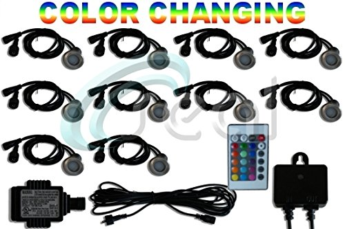 LED-Deck-Lights-Pack-of-10-Color-Changing-RGB-Multicolor-Includes-All-Wires-Plug-in-Transformer-and-Remote-Control-Sensor-Recessed-Wood-Decking-Yard-Garden-Patio-Stairs-Landscape-Outdoor-Flush-Mount-1