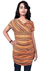 Miraaya Women's Tunic (M2419A_7028_Orange_XX-Large)
