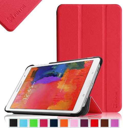 Fintie Samsung Galaxy Tab Pro 8.4 Slim Shell Case Cover - Ultra Slim Lightweight Stand for TabPro 8.4-inch Tablet with Auto Sleep/Wake Feature, Red
