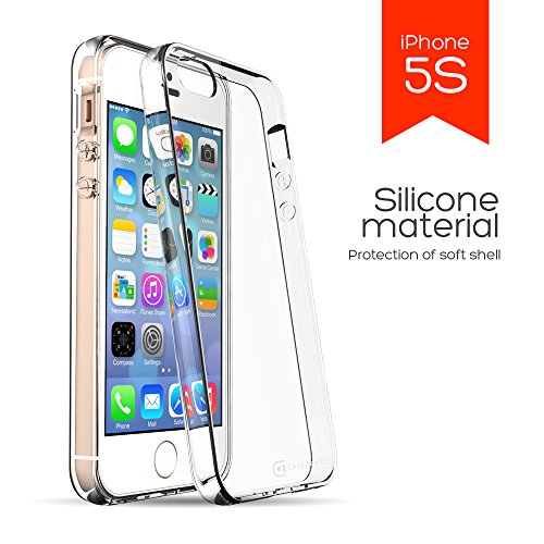 iPhone 5 | 5S | 5G Clear Case, Case Army Scratch-Resistant Slim Clear Soft TPU Case for iPhone 5 | 5S Hard Shell Back Soft Sides TPU Bumper Rubber Shock-Dispersion Cover (Limited (Slim Iphone 5 Bumper compare prices)