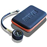 DRIVE Tire Pressure Gauge w/ Oxford Case (60 PSI) - Best for Car Tires, Portable Inflator Monitoring System Tool is Rugged, Heavy Duty Inline Chuck - 100% Satisfaction Guaranteed!