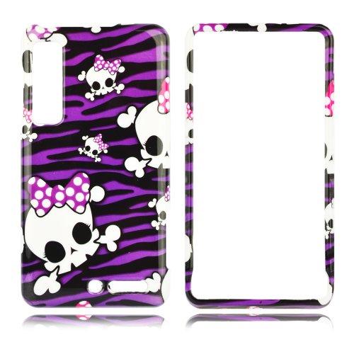Talon 16946 Phone Case for Motorola XT883 Milestone 3, Droid 3, XT860 4G (Baby Skull #1) - Verizon - 1 Pack - Case - Retail Packaging - Purple