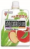 マンナンライフ クラッシュタイプの蒟蒻畑ライトりんご味150g×6袋