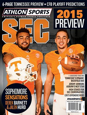 Athlon Sports 2015 College Football Southeastern (SEC) Preview Magazine- Tennessee Volunteers Cover