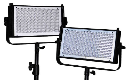 Dracast Dr-Lk-2X500-Tfg Pro 2 X Led500 Kit, Tungsten Flood With Gold Mount Battery Plates (Black)